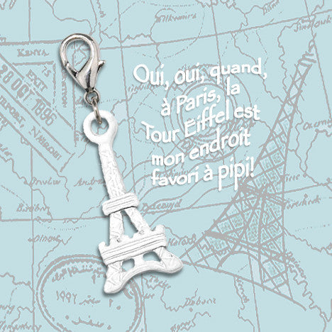 Eiffel Tower Dog Collar Charm, , Collar Pendant, Small Dog Mall, Small Dog Mall - Good things for little dogs.  - 2