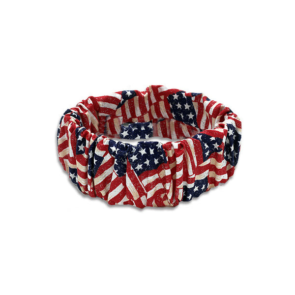 4th of July Flag Scrunchie Dog Collar, , 4th July, Small Dog Mall, Small Dog Mall - Good things for little dogs.
