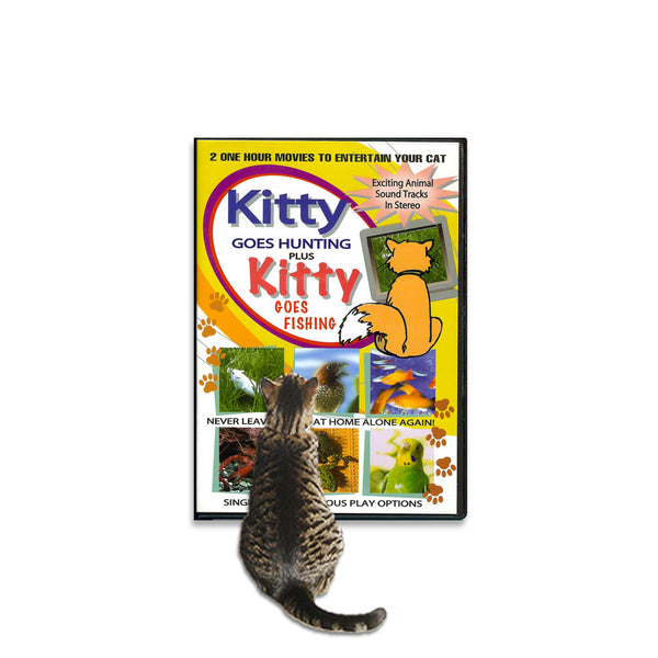 Kitty Goes Hunting & Fishing Video, , Kitty, Small Dog Mall, Small Dog Mall - Good things for little dogs.