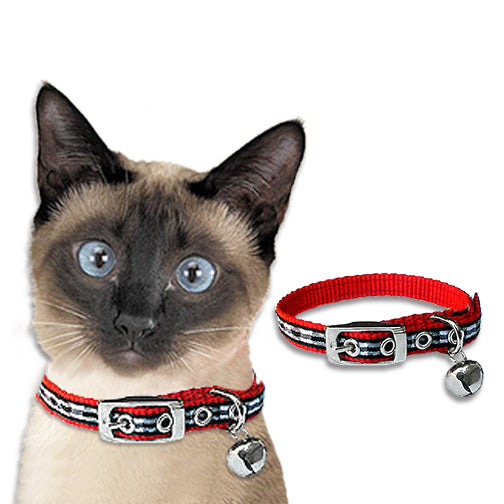 Black and White Gingham Cat Safety Collar