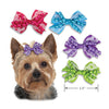 Lace & Curls Dog Hair Bows, , Hair Accessory, Small Dog Mall, Small Dog Mall - Good things for little dogs.  - 2