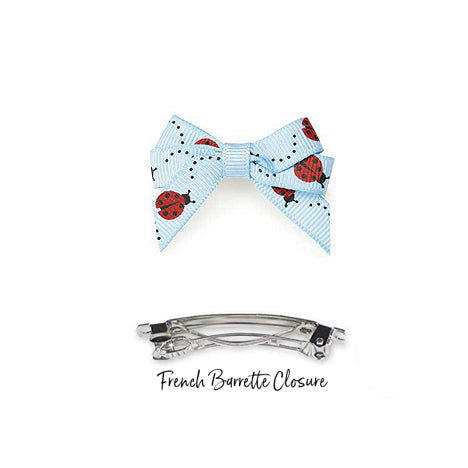 Ladybug Dog Hair Bow Barrettes for Small Dogs