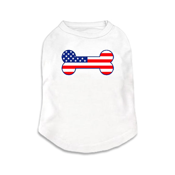 USA Tank Style Small Dog T-Shirt