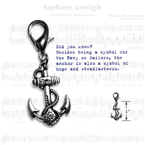 Anchor Dog Collar Charm, Collar Pendant, Small Dog Mall, Small Dog Mall - Good things for little dogs.  - 2