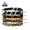 Velvet Animal Prints Small Dog Collars, Collar, Small Dog Mall, Small Dog Mall - Good things for little dogs.  - 2