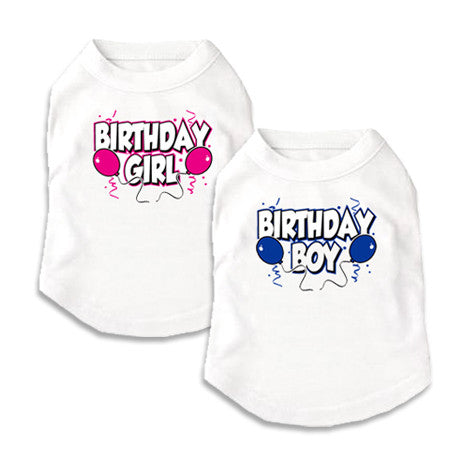 Birthday Dog Tees, , Tee, Small Dog Mall, Small Dog Mall - Good things for little dogs.  - 1