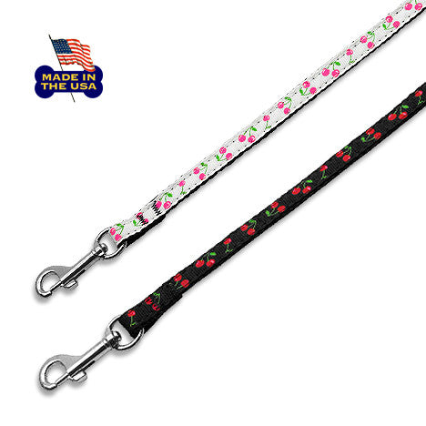 Cherry Ribbon Dog Leash, , Leash, Small Dog Mall, Small Dog Mall - Good things for little dogs.