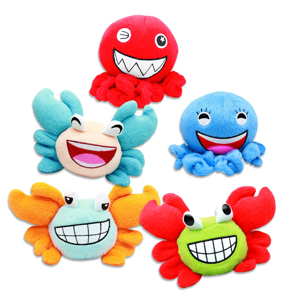 Fun Crab or Octopus Small Dog Toy!