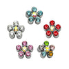 Crystal Flower Small Dog Collar Slides