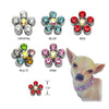 Crystal Flower Dog Collar Slides, , Collar Pendant, Small Dog Mall, Small Dog Mall - Good things for little dogs.  - 2