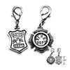 Police or Fire Department Dog Collar Charms, , Collar Pendant, Small Dog Mall, Small Dog Mall - Good things for little dogs.  - 2