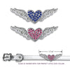 Crystal Winged Heart Dog Collar Slide, , Slide, Small Dog Mall, Small Dog Mall - Good things for little dogs.  - 2