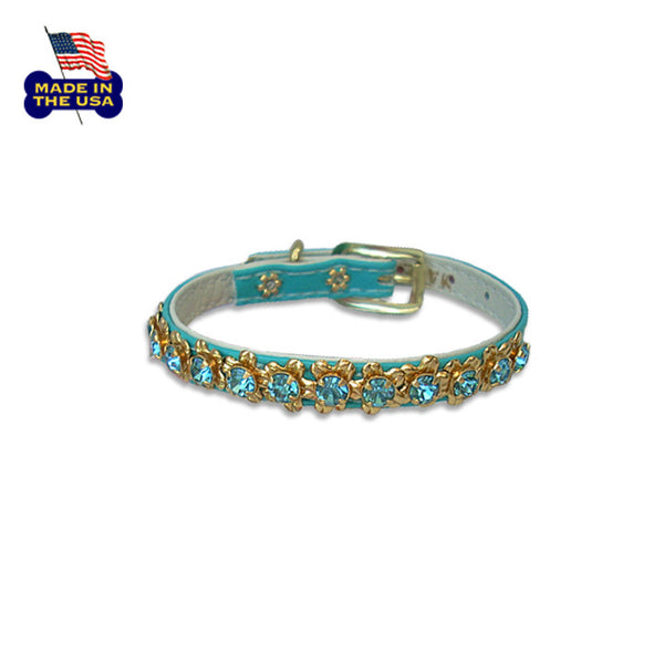 Bedazzling Flower Filigree Small Dog Collar