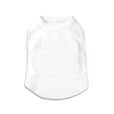 White Tank Style Dog T-Shirt, , Tee, Small Dog Mall, Small Dog Mall - Good things for little dogs.  - 1