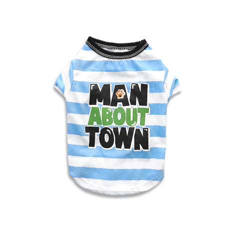 Man About Town Dog T-Shirt, , Tee, Small Dog Mall, Small Dog Mall - Good things for little dogs.  - 1