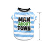 Man About Town Dog T-Shirt, , Tee, Small Dog Mall, Small Dog Mall - Good things for little dogs.  - 2
