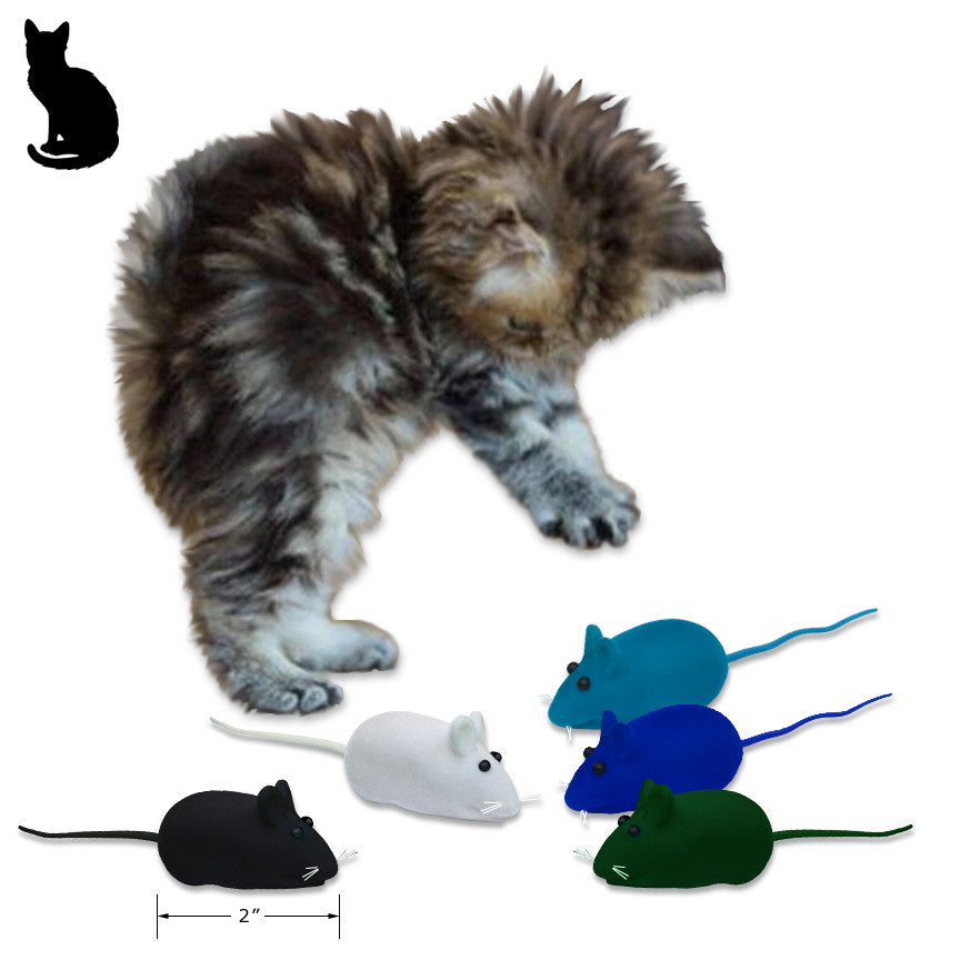 Velvet Mouse Squeaky Cat Toy