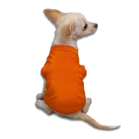 Orange Tank Style Dog T-Shirt, , Tee, Small Dog Mall, Small Dog Mall - Good things for little dogs.  - 1