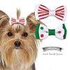 Peppermint Dog Hair Bow Barrettes, , Hair Accessory, Small Dog Mall, Small Dog Mall - Good things for little dogs.  - 1