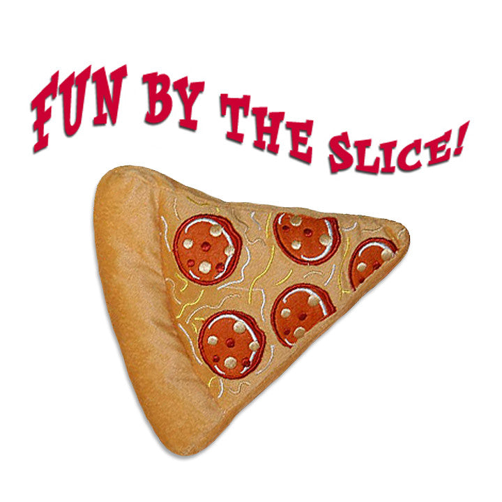 Slice of Pizza Dog Toy, Toy, Small Dog Mall, Small Dog Mall - Good things for little dogs.  - 1
