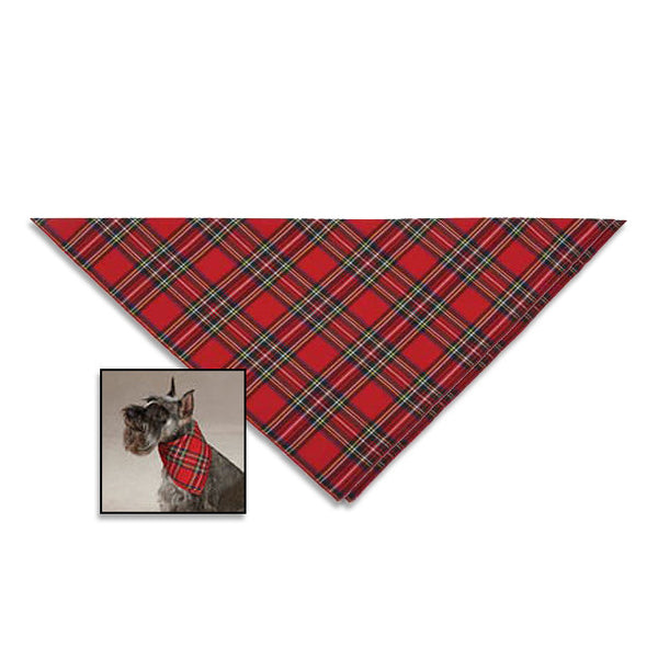 Tartan Holiday Neck Scarf for Dogs, , Christmas, Small Dog Mall, Small Dog Mall - Good things for little dogs.  - 1