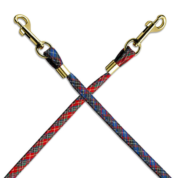 Perfect Plaid Small Dog Leash with Gold Hardware, Small Dog Mall