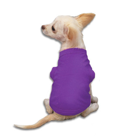 Purple Tank Style Dog T-Shirt, , Tee, Small Dog Mall, Small Dog Mall - Good things for little dogs.  - 1