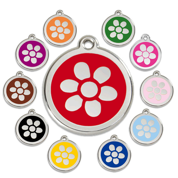 RedDingo Daisy Flower Cat ID Tag