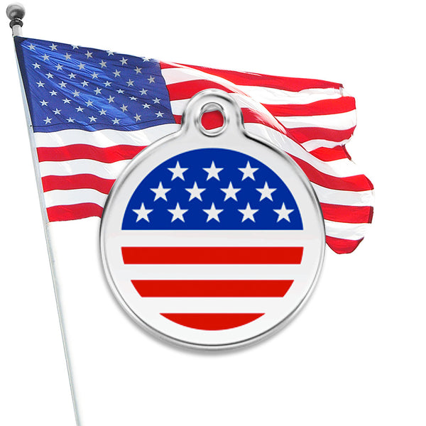 All American Dog ID Tag, , ID Tag, Small Dog Mall, Small Dog Mall - Good things for little dogs.  - 1