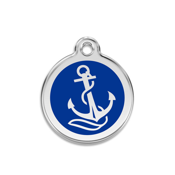 Anchors Aweigh Small Dog ID Tag, ID Tag, Small Dog Mall, Small Dog Mall - Good things for little dogs.  - 1