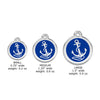 Anchors Aweigh Small Dog ID Tag, ID Tag, Small Dog Mall, Small Dog Mall - Good things for little dogs.  - 2