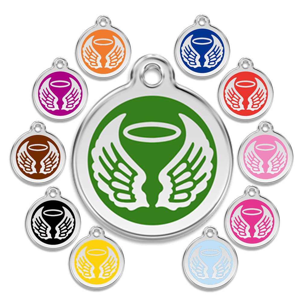 Angel Wings Small Dog ID Tag, ID Tag, Small Dog Mall, Small Dog Mall - Good things for little dogs.  - 1