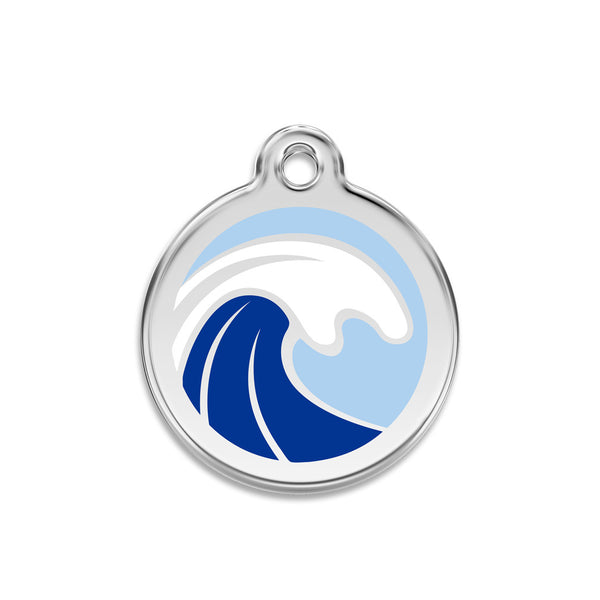 Big Wave Dog ID Tag, , ID Tag, Small Dog Mall, Small Dog Mall - Good things for little dogs.  - 1