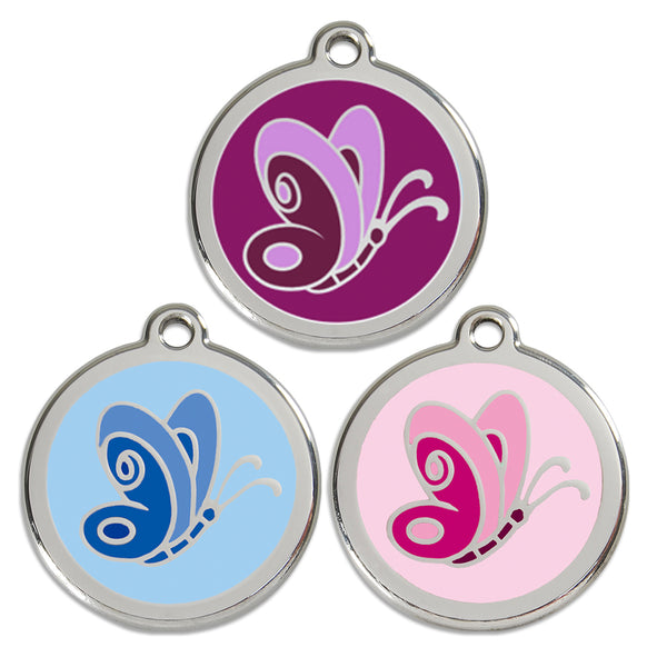 Butterfly Dog ID Tag, , ID Tag, Small Dog Mall, Small Dog Mall - Good things for little dogs.  - 1