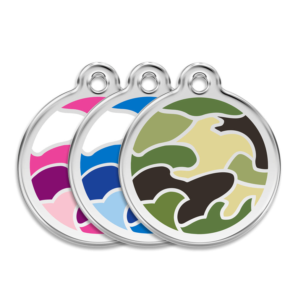 Camo Dog ID Tag, , ID Tag, Small Dog Mall, Small Dog Mall - Good things for little dogs.  - 1