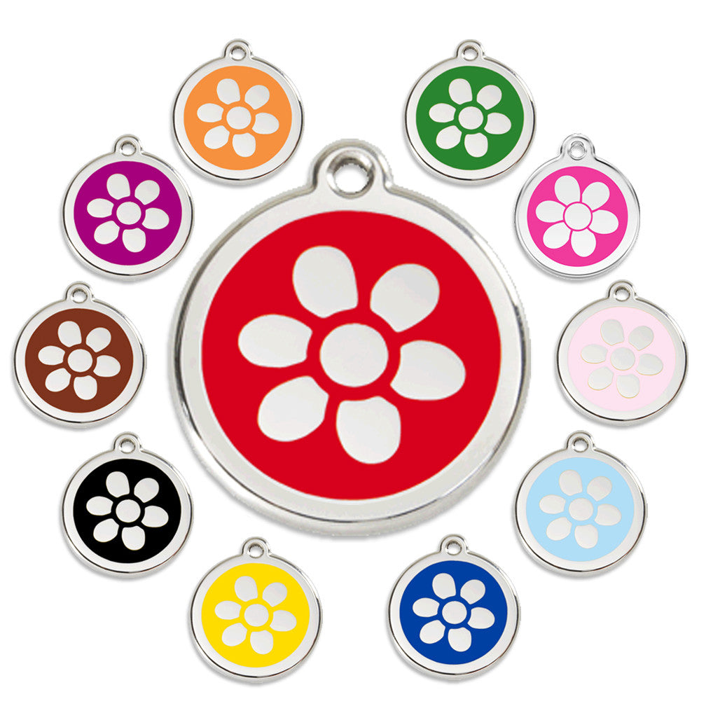 Flower Dog ID Tag, , ID Tag, Small Dog Mall, Small Dog Mall - Good things for little dogs.  - 1