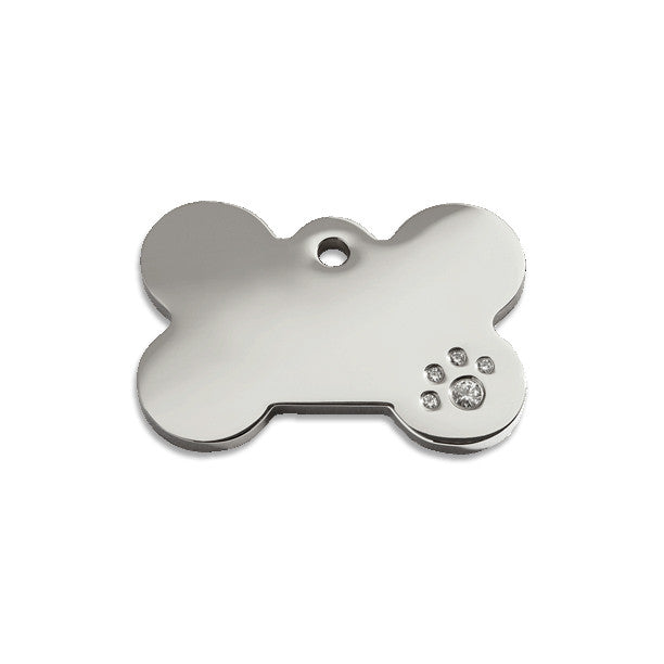 Diamante Bone ID Tag, , ID Tag, Small Dog Mall, Small Dog Mall - Good things for little dogs.  - 1