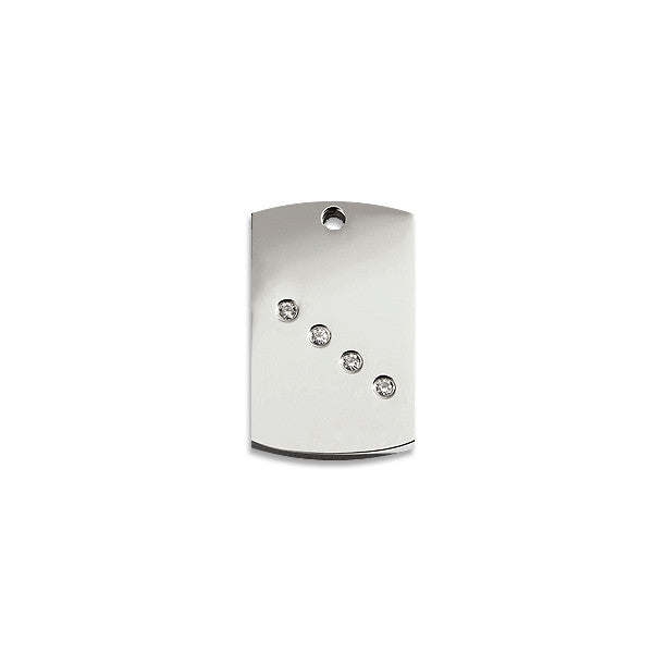 Diamante Rectangular ID Tag, , ID Tag, Small Dog Mall, Small Dog Mall - Good things for little dogs.  - 1