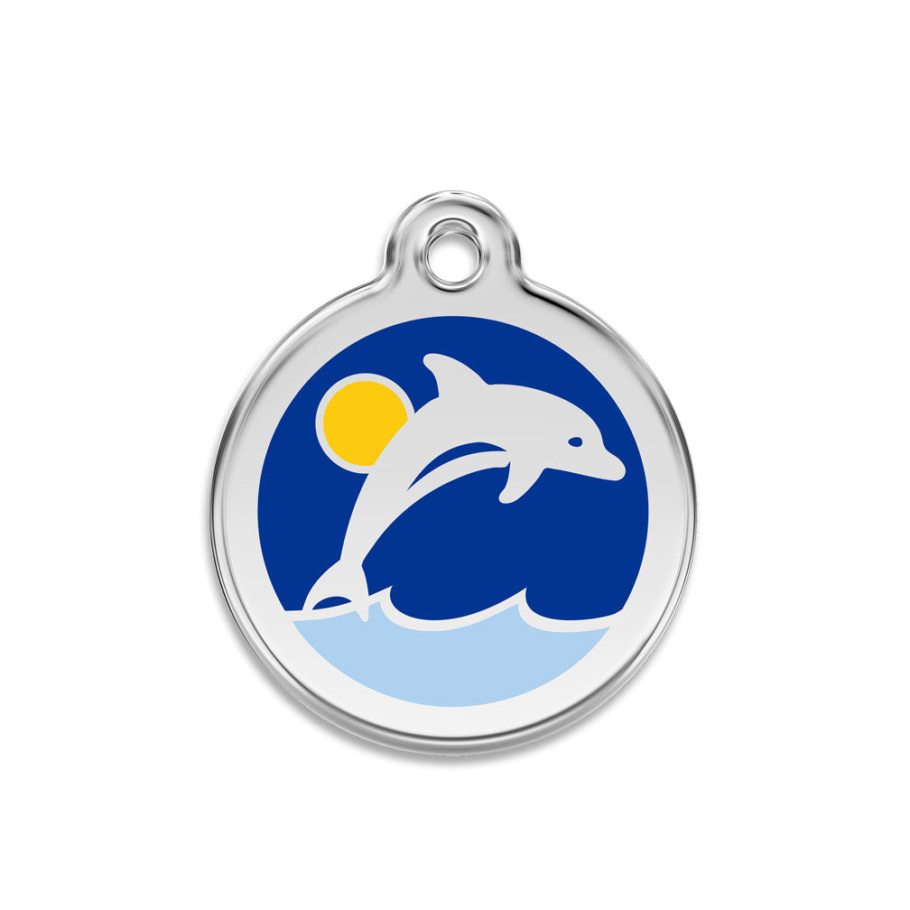 Dolphin Dog ID Tag, , ID Tag, Small Dog Mall, Small Dog Mall - Good things for little dogs.  - 1
