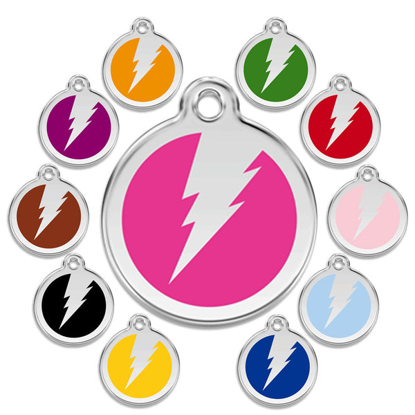 Flash Dog ID Tag (Or TCB Perhaps?), , ID Tag, Small Dog Mall, Small Dog Mall - Good things for little dogs.  - 1