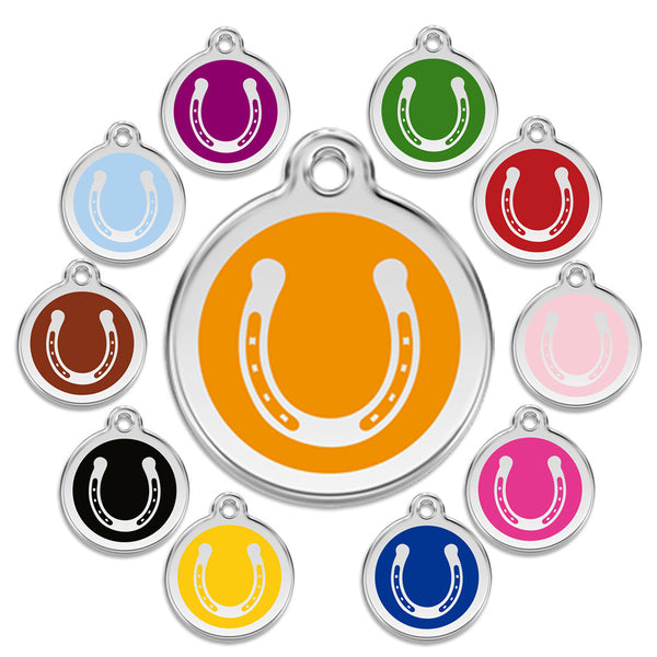 Lucky Horseshoe Dog ID Tag, , ID Tag, Small Dog Mall, Small Dog Mall - Good things for little dogs.  - 1