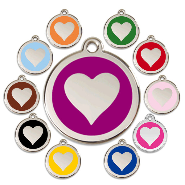 Heart Dog ID Tag, , ID Tag, Small Dog Mall, Small Dog Mall - Good things for little dogs.  - 1