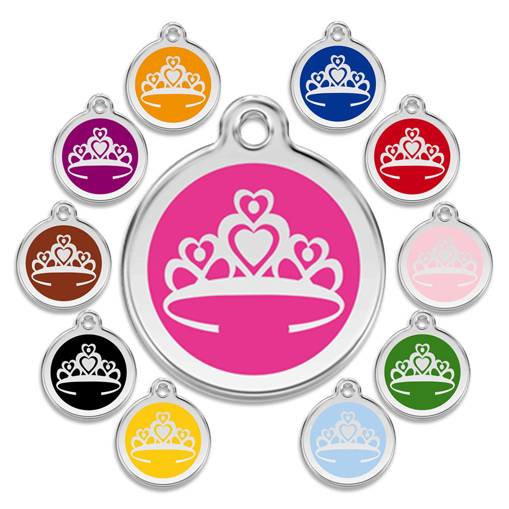 Queen of Hearts Dog ID Tag, , ID Tag, Small Dog Mall, Small Dog Mall - Good things for little dogs.  - 1