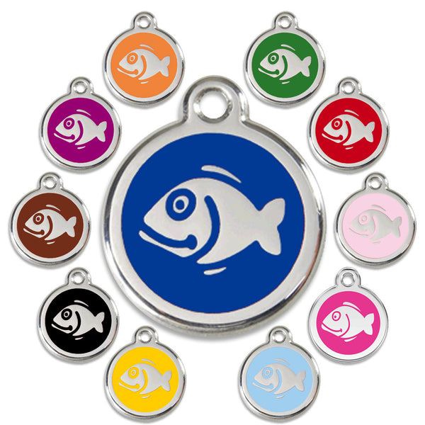 Fish Design Cat ID Tag