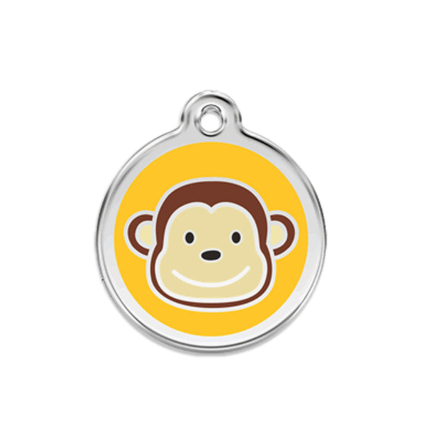 Red Dingo Funky Monkey Dog ID Tag