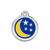 Moon and Stars Dog ID Tag, , ID Tag, Small Dog Mall, Small Dog Mall - Good things for little dogs.  - 1