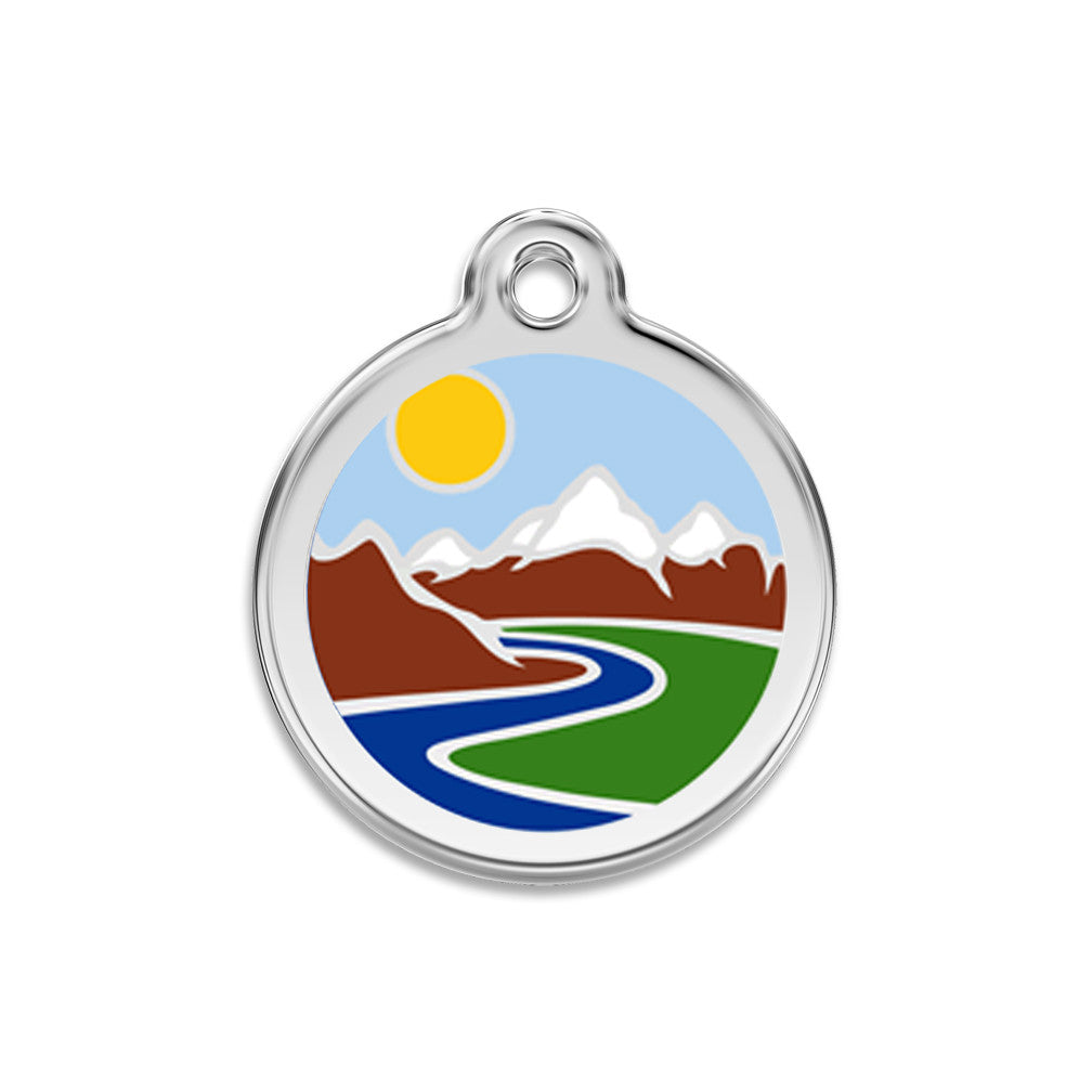 Rocky Mountain High Dog ID Tag, , ID Tag, Small Dog Mall, Small Dog Mall - Good things for little dogs.  - 1