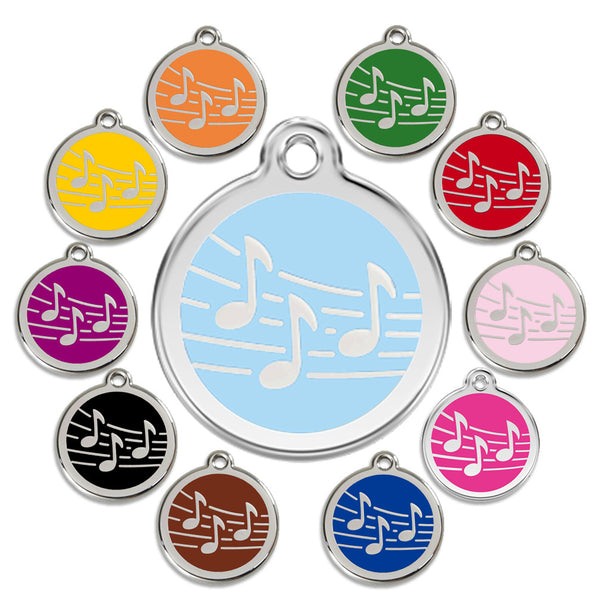 Musical Notes Dog ID Tag, , ID Tag, Small Dog Mall, Small Dog Mall - Good things for little dogs.  - 1