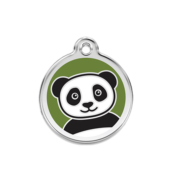 Red Dingo Panda Dog ID Tag