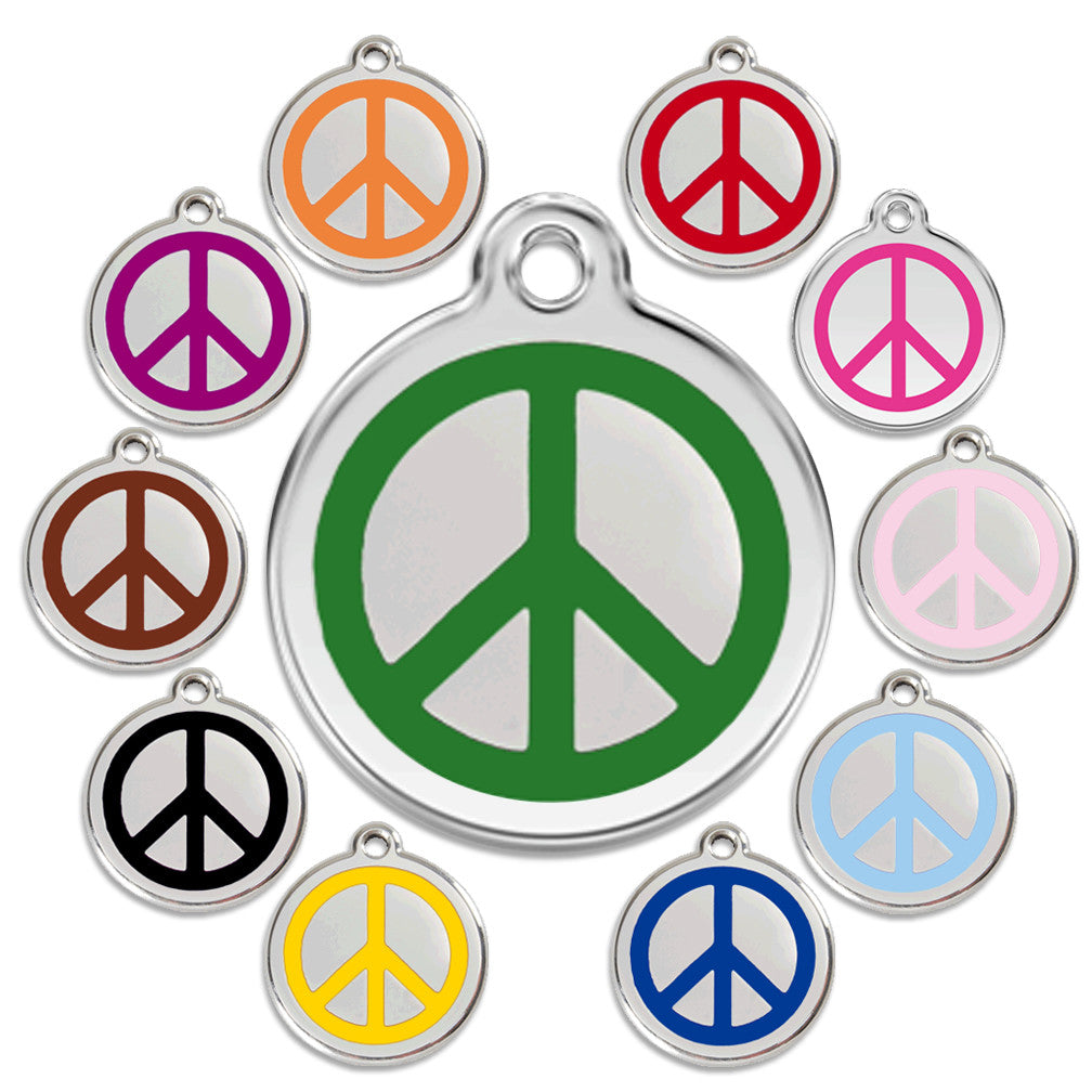 Peace Dog ID Tag, , ID Tag, Small Dog Mall, Small Dog Mall - Good things for little dogs.  - 1